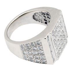 3.90 ctw Diamond Ring - 18KT White Gold