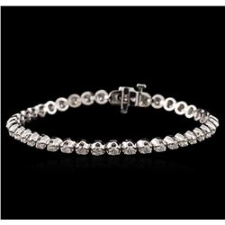 14KT White Gold 3.35 ctw Diamond Tennis Bracelet