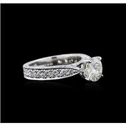 3.04 ctw Diamond Ring - 18KT White Gold