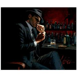 Man Lighting Cigarette III by Perez, Fabian