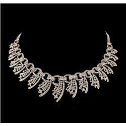 15.40 ctw Diamond Necklace - 18KT White Gold