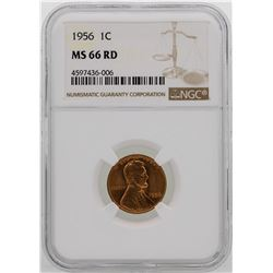 1956 Lincoln Wheat Penny Coin NGC MS66RD