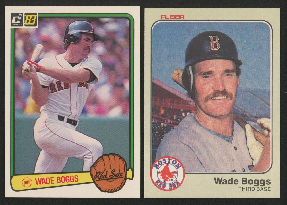 Lot Of 2 Wade Boggs Baseball Cards With 1983 Donruss 586