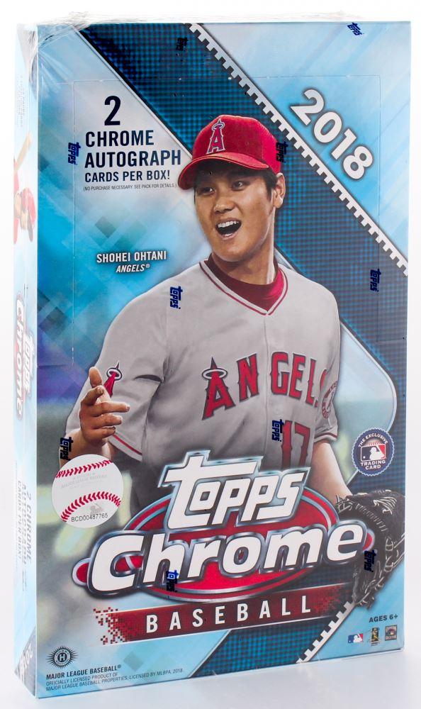 2018 Topps Chrome Baseball Cards Unopened Hobby Box Of