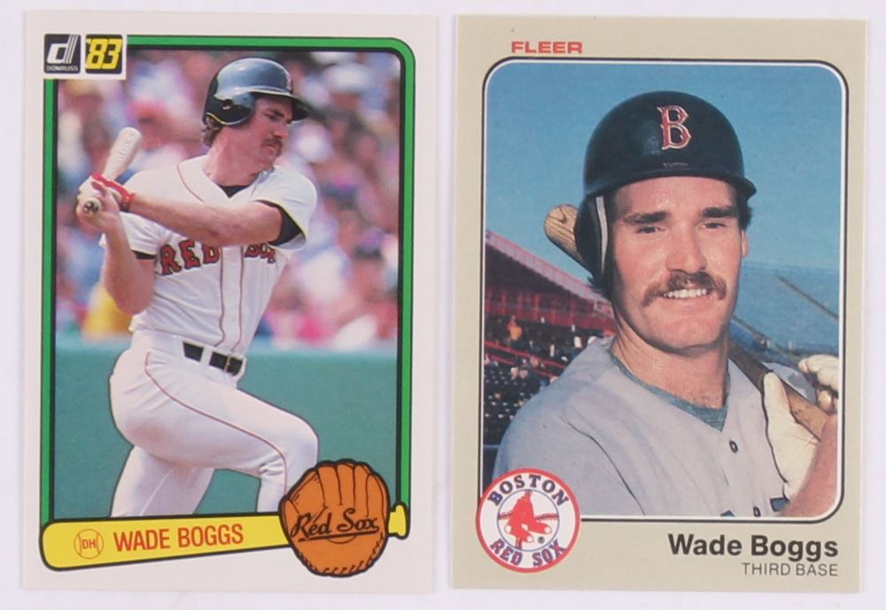 Lot Of 2 Wade Boggs Baseball Cards With 1983 Donruss