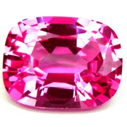 1.14ct Aaa Bianco Diamond Pink Sapphire Corundum Octagon Cushion 7x5mm