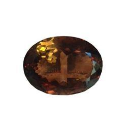 HUGE! 172.85ct Smoky Quartz Oval Facet Gemstone