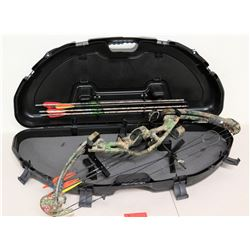 Reflex Grizzly Archery Compound Bow w/ 6 Arrows & Case