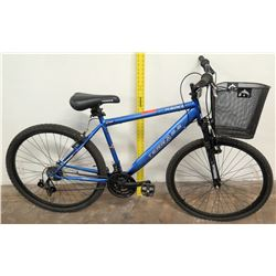 Kent Terra 21-Speed 2.6 Mountain Bike w/ Basket, Blue Frame ATB26 Shimano