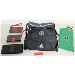 Qty: Monogram Wallets, Coin Purse, Adidas Drawstring Bag, NSA Golf Towel