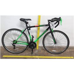 Kent 700 Roadtech 21-Speed Road Bike, Black/Green, Shimano Equipped