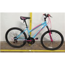 Rallye OE Scent 18-Speed Ladies Mountain Bike, Blue/Pink Frame