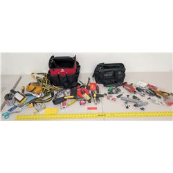 Large Lot of Misc Hand Tools, Tie Down Strap, Tool Bags, etc.