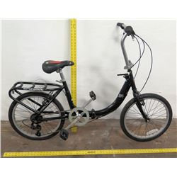 "Schwinn 20"" U-Loop Bike w/ Rack, Black Frame"