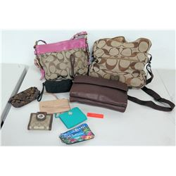 2 Coach Bags, 2 Coach Wallets & Assorted Bags and Wallets (Authenticity Unknown)