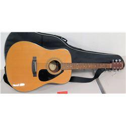 Yamaha 6-String Guitar F325D w/ Soft Gig Case & Strap