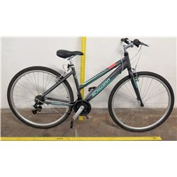 Schwinn Pathway 700 C Women's 18-Speed Bike, Gray/Aqua