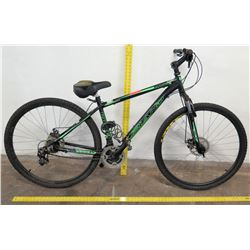 Upland Raider Shimano 3-Speed Mountain Bike, Black/Green