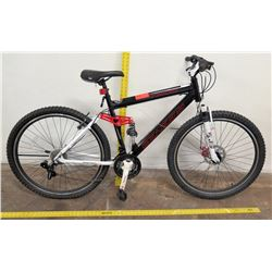 Genesis V2100 Mountain Bike, Shimano Full Suspension, Black/White