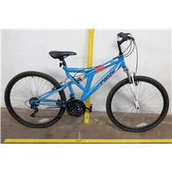Pacific Shire 18-Speed Full Suspension Mountain Bike, Blue