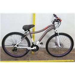 "Genesis 26"" Whirlwind 21-Speed Mountain Bike,  Gray/White"