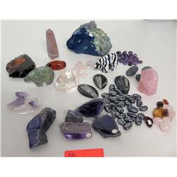 Large Collection of Natural Stones, Geodes, Rocks & Stone Animals (over $1K retail)