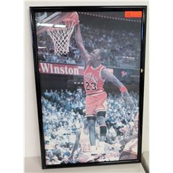 Framed Chicago Bulls #23 Michael Jordan Photographic Print