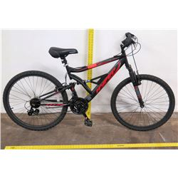 "Hyper 26"" HPRS Suspension Mountain Bike, Black/Red"
