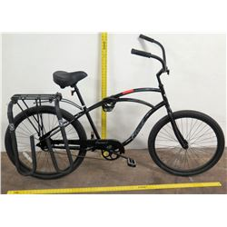 Electra Cruiser 1 Bike w/ Rack & Surfboard Carrier, Black