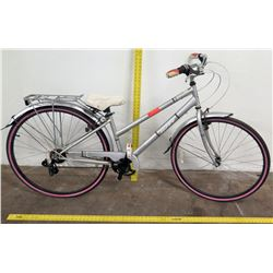 Huffy 700C L Norwood 26  Ladies Cruiser Bike, Silver/Gray