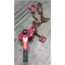 Coffing 3-Ton Chain Hoist, Red