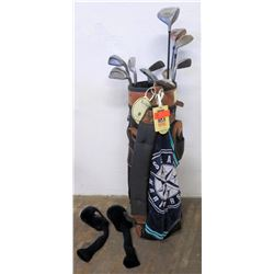 Golf Bag w/ Golf Clubs: Tour Tech, Northwestern, Viper, Armor Pierce, etc