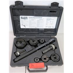 Klein Tools Knock Out Punch Set with Wrench, Hard Case
