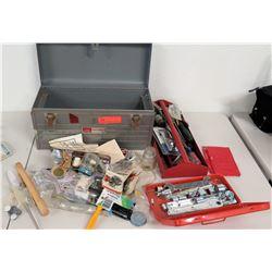 Craftsman Tool Box w/ Socket Set & Misc Hand Tools & Parts