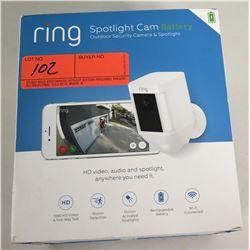 New Ring Spotlight Cam Outdoor Security Camera & Spotlight