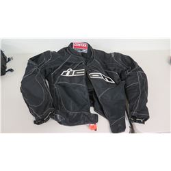 Contra Icon Men's Thick Padded Motorcyle Jacket, Size XL 44/46
