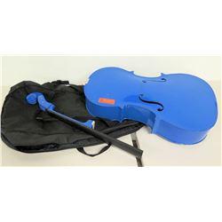 Blue Cello Prop, No Strings, Broken Bridge/Neck, Soft Case