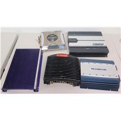 Qty 5 Audio Amplifiers - Pioneer, Scosche, Rockford Fosgate, etc.