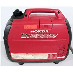 Honda EU 2000i Portable Generator, Inverter A/C Out 120V, DC 12V