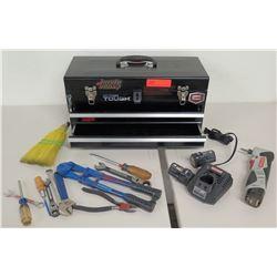 Black Toolbox w/ Craftsman Nextec Drill, Charger & Handtools