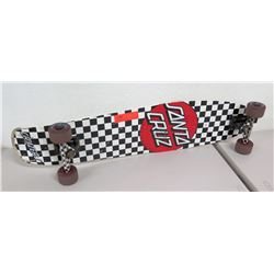 Santa Cruz Cruizer Skateboard w/ Road Rider Wheels, Black & White Checkered