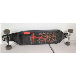 LandYachtz Skateboard, Black w/ Tree Graphics