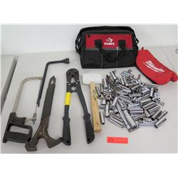 Bolt Cutter, Hack Saw, Misc. Tools, Husky Tool Bag