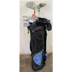 Black Golf Bag w/ Sensor Golf Clubs