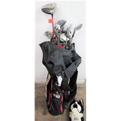 Golf Bag w/ Golf Clubs (Big Bertha Diablo, RBZ, PGX, TaylorMade, etc.)