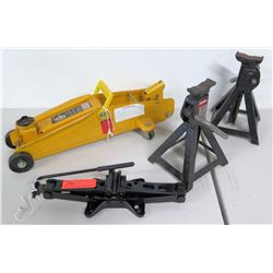2-Ton Floor Jack, Car Jack & 2 Craftsman Jack Stands
