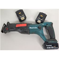 Makita Sawzall Reciprocating Saw w/ Extra Batteries
