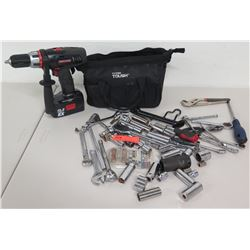Craftsman 19.2V Drill Driver, Multiple Sockets, Hyper Tough Tool Bag, etc