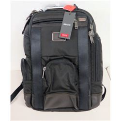 New Tumi Bravo Black Canvas Backpack