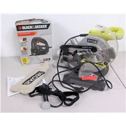 Unused Ryobi Circular Saw, Black & Decker Single Speed Jigsaw, etc